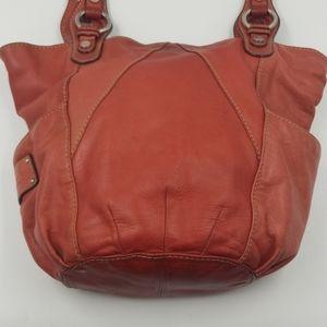 Tignanello Red Leather Shoulder Bag